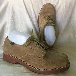 School Issue semester boys 5.5 brown suede shoes